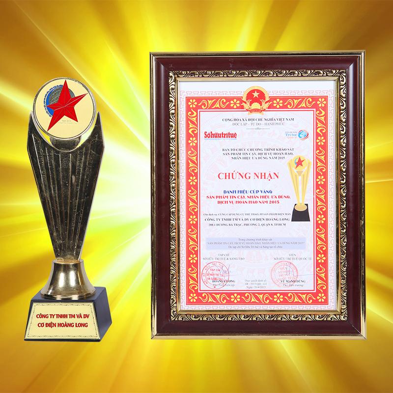 Điện máy Hoàng Long đạt giải thưởng Nhãn hiệu ưa dùng 2015
