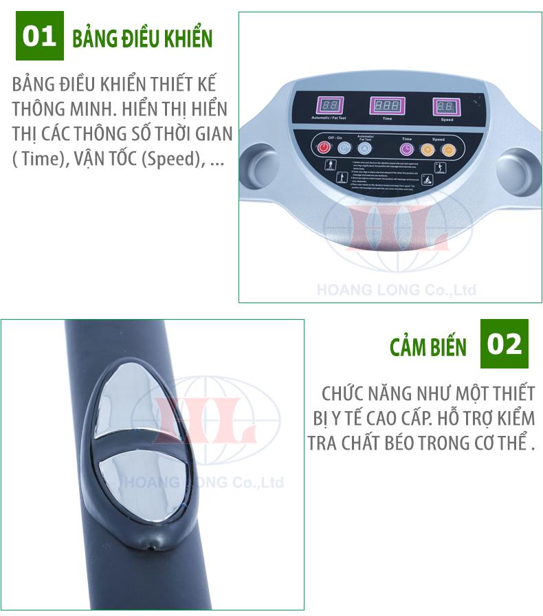 Bấm nút xài máy rung mát xa toàn thân Crazy Fit Massage