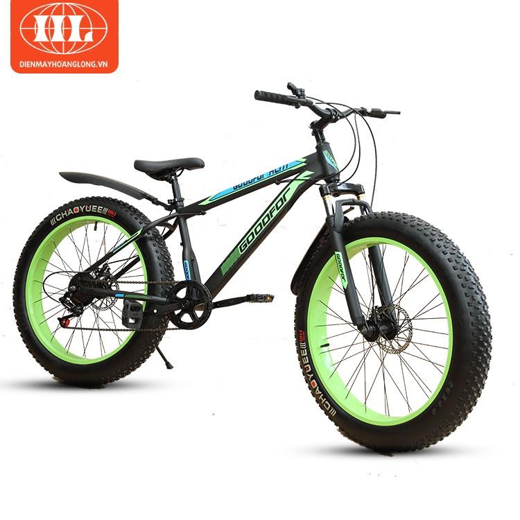Xe đạp bánh to GoodFor HL-777 màu xanh