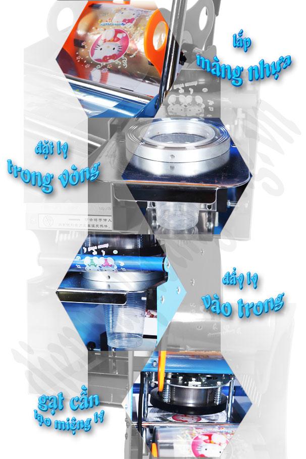 các bước ép miệng ly bằng máy S1-2 do dienmayhoanglong.vn cung cấp