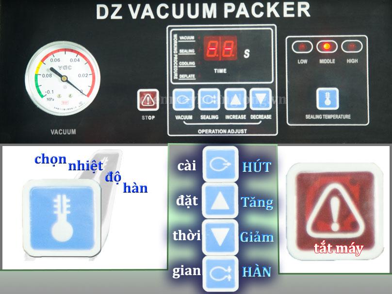 điều khiển máy hút chân không công nghiệp DZ