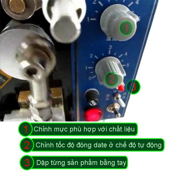 DMJ-B máy đóng date nút điều khiển