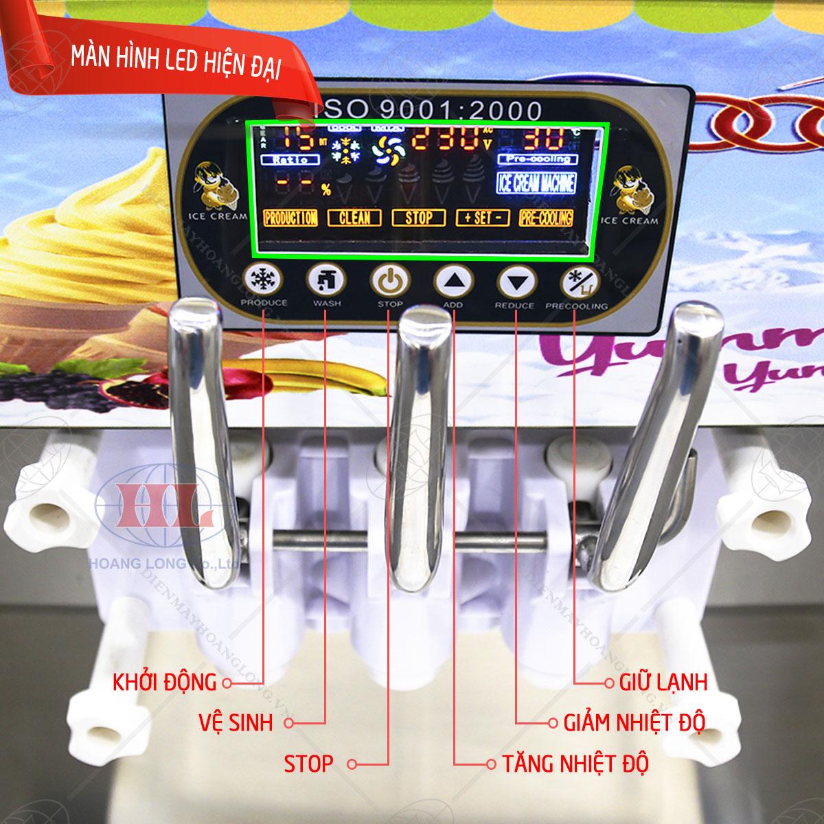 Bảng điều khiển máy làm kem tươi Pro