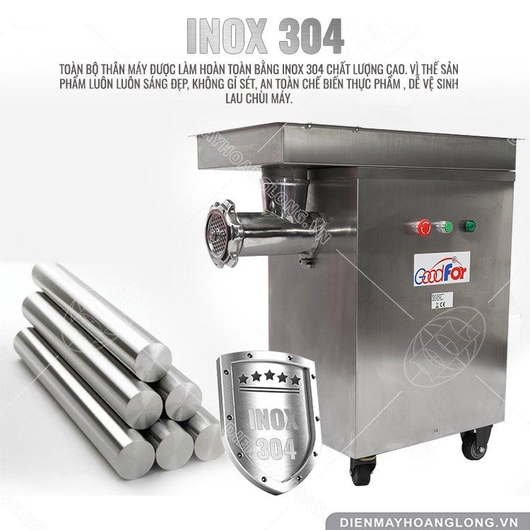 Chất liệu Inox máy xay thịt MK32