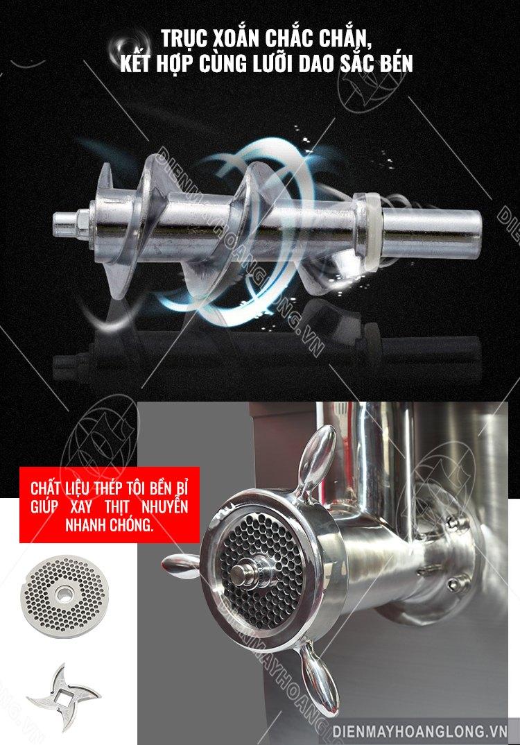 trục xoắn Máy xay thịt công nghiệp MK42 INox 304 PRO Max