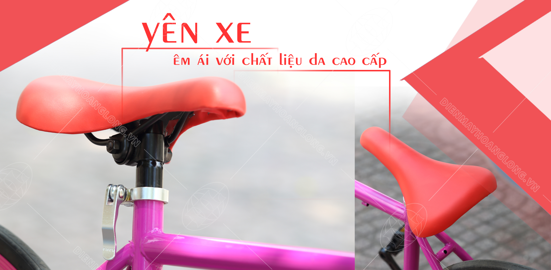 Xe đạp thời trang Ben Xanh ( Đỏ) - yên xe êm ái
