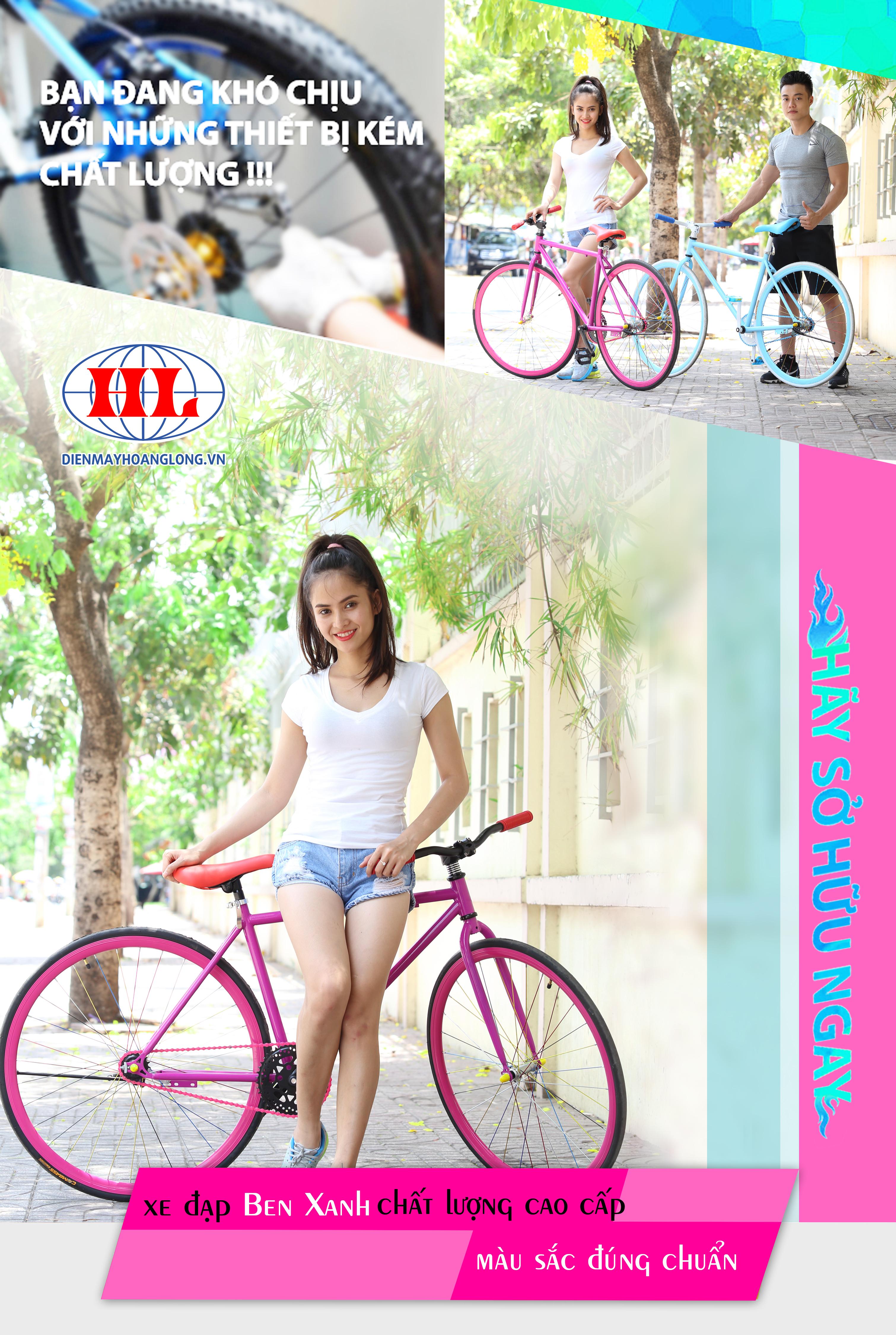 Xe đạp thời trang Ben Xanh và Đỏ