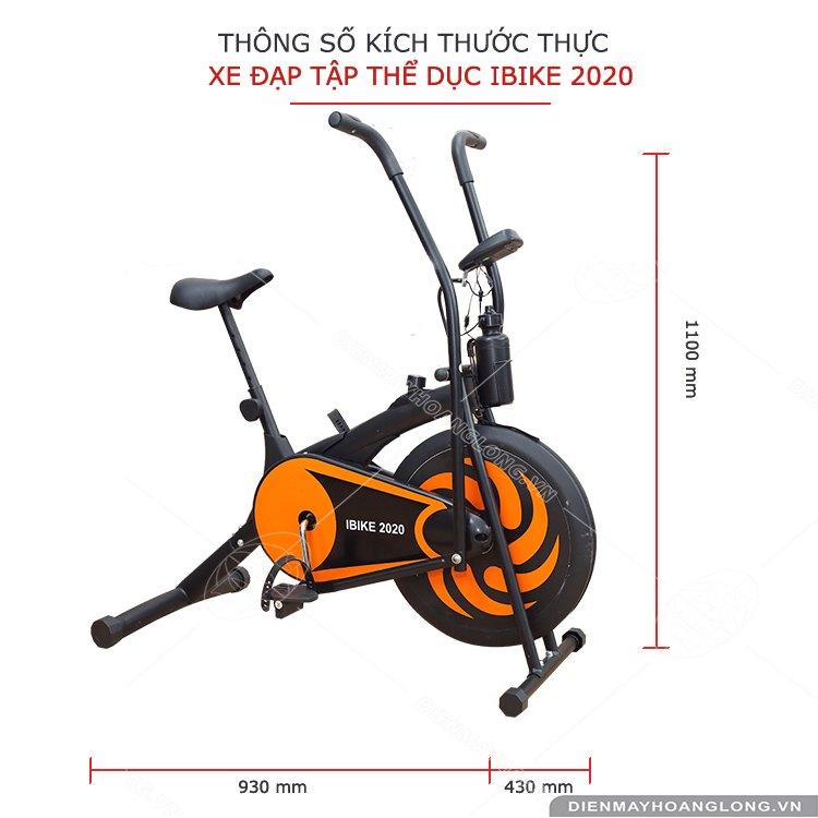Kích thước Xe đạp tập thể dục iBike 2020