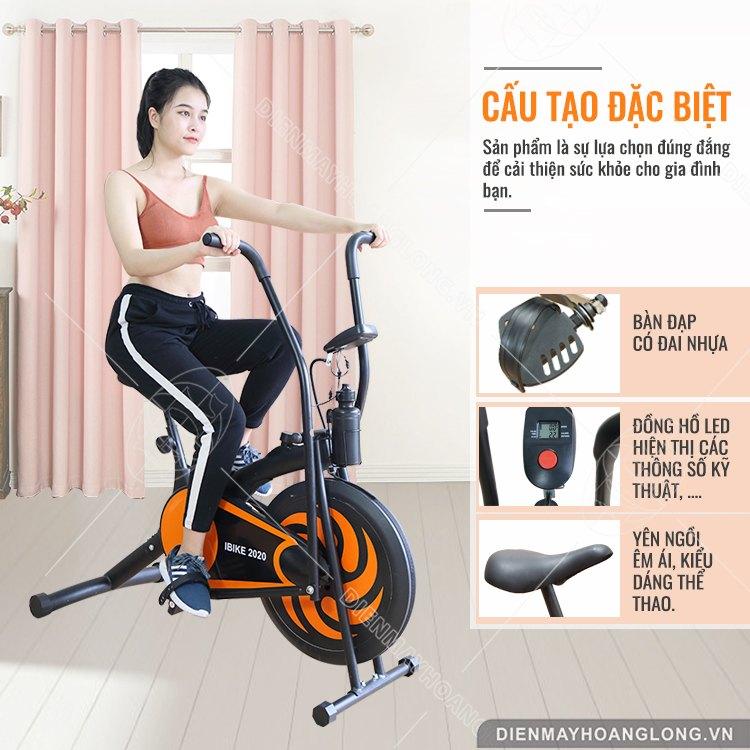 Cấu tạo Xe đạp tập thể dục iBike 2020