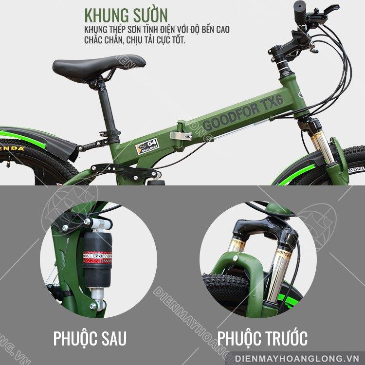 Khung sườn Xe đạp thể thao GoodFor TX6