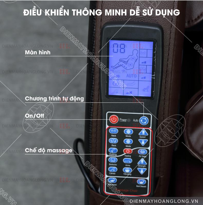 GHẾ MASSAGE TOÀN THÂN GOODFOR HL888 - điều khiển
